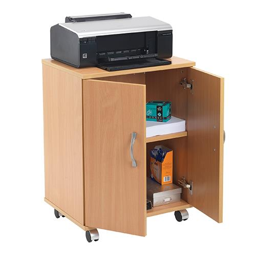 Portable Computer Cabinets : Buy essentials portable pc printer storage stand beech