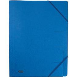 Elba Boston Part File Pressboard Elasticated 9-Part Foolscap Blue Ref 100090172 [Pack 5]