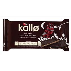 Kallo Gluten-free Rice Cake Thins Organic Dark Chocolate 90g Ref A07900