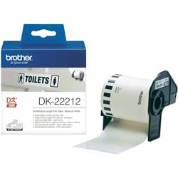 Originale Brother DK22212 Nastro pellicola continua bianco - 62 mm x 15,24 m