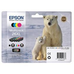 Originale Epson C13T26364010 - Conf. 4 cartucce inkjet A.R. 26XL - 4 colori multipack