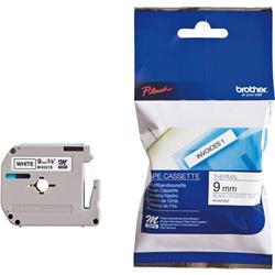 Brother P-Touch M-K221SBZ 9mmx4m BlackonWhite Plastic Labelling Tape Ref MK221SBZ
