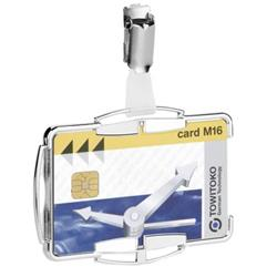 Durable Security Card Holder RFID for One Card Silver Ref 890223 [Pack 10]