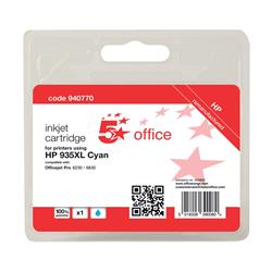 5 Star Office Remanufactured Inkjet Cartridge Page Life 825pp Cyan [No. 935XL C2P24AE Alternative]