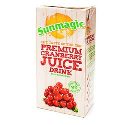 Sunmagic Cranberry Juice Drink Tetra Pak Slim 1 Litre Ref 451010 [Pack 12]