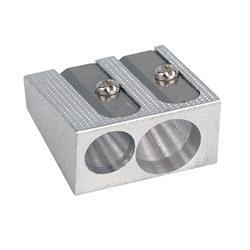 5 Star Office Sharpener Metal 2 Hole 8mm Diameter [Pack 24]