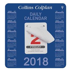 Collins 2018 Daily Block Tear Off Day of the Year Calendar Ref CDBC 2018