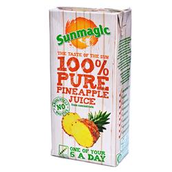 Sunmagic Pure Pineapple Juice Drink Tetra Pak Slim 1 Litre Ref 471051 [Pack 12]