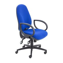 Maxi Ergo Chair With Fixed Arms - Royal Blue Ref CH0808RB+AC1002