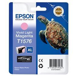 Epson T1576 Inkjet Cartridge Turtle Capacity 25.9ml Light Magenta Ref C13T157640
