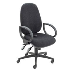 Maxi Ergo Chair With Fixed Arms - Charcoal Ref CH0808CH+AC1002