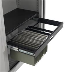 Steel Open Tambour Filing Frame - Black Ref TCSOTFF