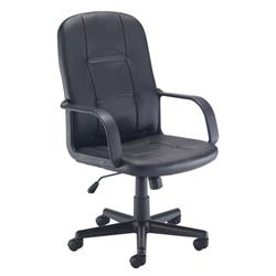 Jack II Chair - Black Leather Look Ref CH1765