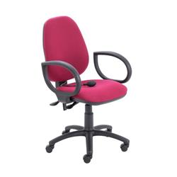 Calypso Ergo Chair With Fixed Arms - Claret Ref CH2810CL+AC1002