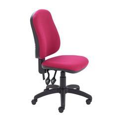 Calypso II High Back Chair - Claret Fabric Ref CH2800CL