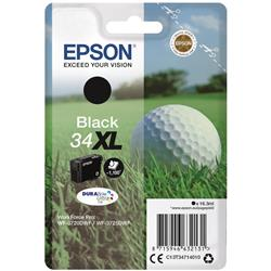 Epson Golf Ball 34XL (16.3ml) DURABrite Ultra Black Ink Cartridge
