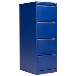 Bisley 4 Drawer Classic Steel Filing Cabinet - Blue Ref BS4E/BLUE