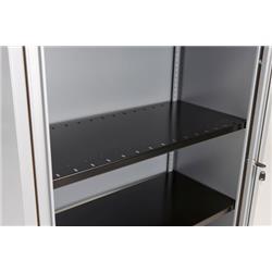 Bisley Essentials Slotted Shelf for Cupboards - Black Ref BSSPDP1BLK