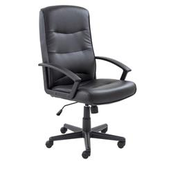 Canasta II Chair - Black Leather Look Ref CH0768