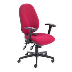 Maxi Ergo Chair With Folding Arms - Claret Ref CH0808CL+AC1082