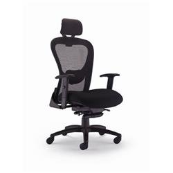 Strata High Back Chair With Seat Slide - Black Ref CH0735BK