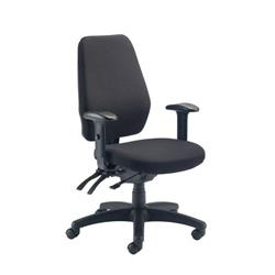 Call Centre Chair Without Seat Slide - Charcoal Ref CH0905CH
