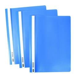 Elba A4 Report Folder Capacity 160 Sheets Clear Front Blue Ref 400055030 (Pack 50)