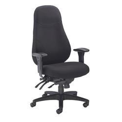 Cheetah Fabric Chair - Black Ref CH1111BK