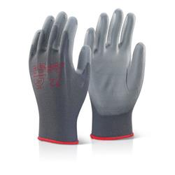 Click2000 Pu Coated Gloves Grey S Ref PUGGYS