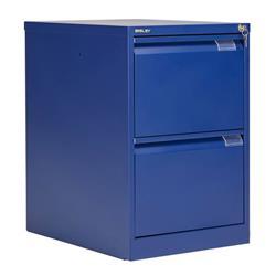 Bisley 2 Drawer Classic Steel Filing Cabinet - Blue Ref BS2E/BLUE