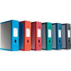 Scatola Archivio Combi Box E500 Fellowes - dorso 9 cm - blu navy