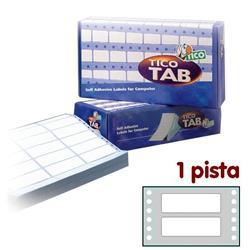 Etichette a modulo continuo Tico - 1 pista - 70x23,5 mm - 12 etichette/ff - 500 fogli