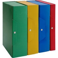 Scatole portaprogetti in presspan Brefiocart - dorso 8 cm - blu - conf. 5
