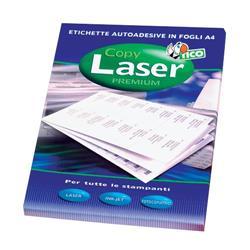 Etichette adesive Copy Laser Tico - ang. arrotondati - 190x38 mm - 7 etichette/ff - 100 fogli