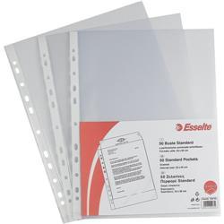 Buste a foratura universale Standard Esselte Standard - formato A4 - goffrata - basso spessore - conf. 50