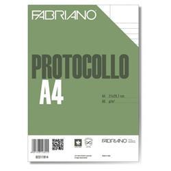 Fogli protocollo Fabriano - rigato uso bollo - conf. 200