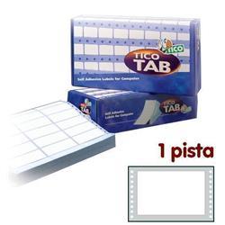 Etichette a modulo continuo Tico - 1 pista - 149x97,2 mm - 3 etichette/ff - 500 fogli
