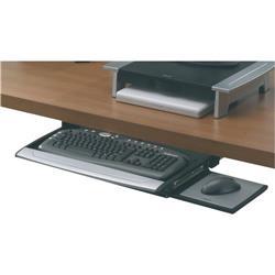 Supporto tastiera deluxe Office Suites - 7,2x61x36,5 cm - nero e argento