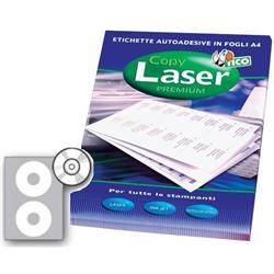 Etichette Copy Tico patinate opache - CD/DVD - 2 etichette/ff - 100 fogli