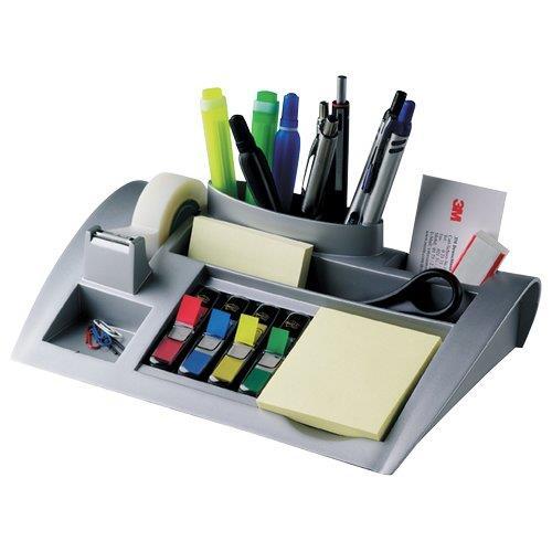 Portaoggetti da scrivania c50 post it grigio 67230 for Portaoggetti scrivania