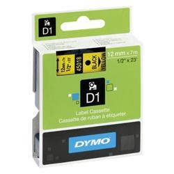 Nastro Dymo D1 - 12 mm x 7 m - nero/giallo