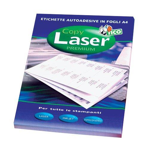 105 x 148 Bianco Tico LP4W-105148 Etichette Senza Margini 100 FF