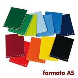 Quaderni Monocromo Pigna - A5 - a quadretti 5 mm - assortiti - conf. 10