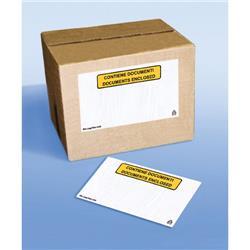 Buste adesive portadocumenti Tenzalopes - con scritta - 24x18cm - conf. 100