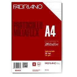 Fogli protocollo filigranati Fabriano Miliaflex Standard - uso bollo - conf. 200