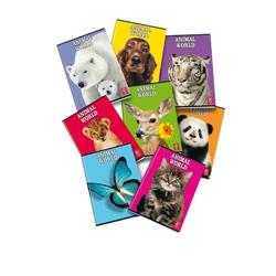 Quaderni Animal World Pigna - A4 - righe 0A con margine - assortiti - conf. 10