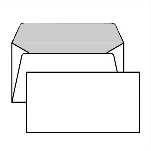 Buste senza finestra taglio dritto gommata 80 g mq - Buste 11x23 senza finestra ...