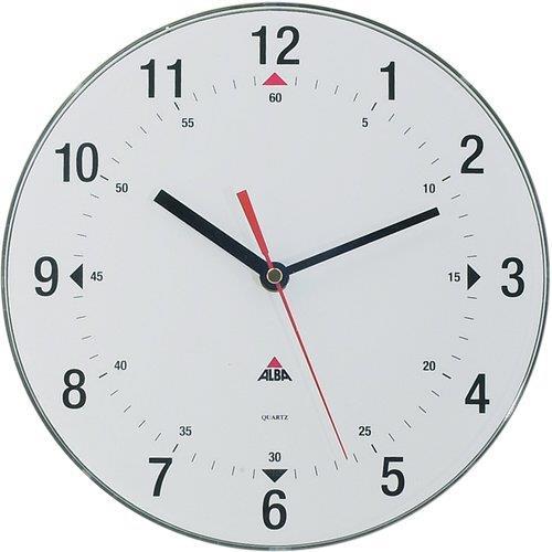 Orologio da parete horclas alba analogico 25 cm for Orologio digitale da parete ikea