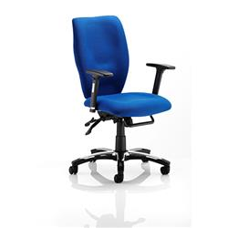 Sierra Executive Chair Blue Fabric With Arms Ref OP000177