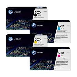 HP 507 Toner Cartridge Bundle Cyan, Magenta, Yellow, Black [Pack 4]